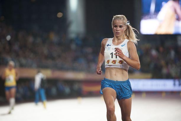 Alisa Vainio oli mukana myös Suomi-Ruotsi-maaottelussa Tampereella alkusyksystä.