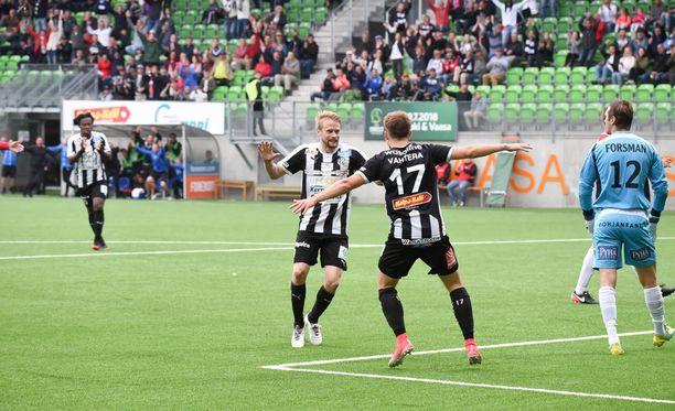 Juho Lähde ja Joonas Vahtera tekivät maalit mieheen, kun VPS pelasi kotonaan PS Kemin kanssa 3-3.