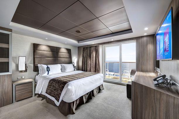 Meraviglian Royal Suite -sviitin makuuhuone.