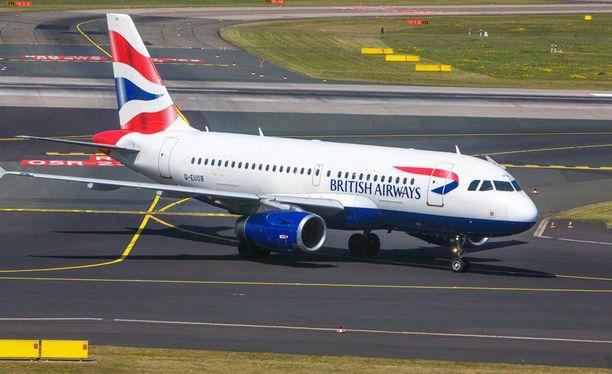 Myös British Airwaysin nettisivut ovat olleet nurin.