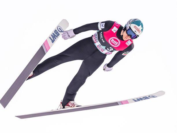Antti Aalto oli Suomen ykkösnimi Planican joukkuekisassa.