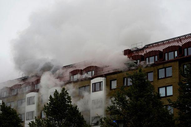 Kerrostalo savutti runsaasti Annedalin kaupunginosassa Göteborgissa.