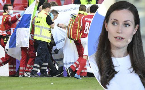 Futismaailma rukoili Eriksenin puolesta – myös Sanna Marin kommentoi tilannetta
