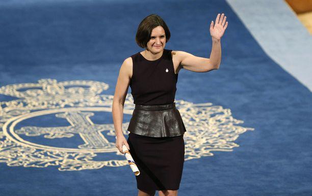 Ranskalais-yhdysvaltalainen Esther Duflo on palkittu taloustieteilijä.