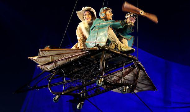 Cirque du Soleilin esiintyminen näytti tältä taannoin Melbournessa.