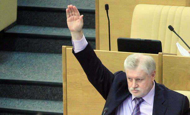 Oikeudenmukainen Venäjä -puolueen johtaja Sergei Mironov vaatii terroristeille kuolemanrangaistusta.