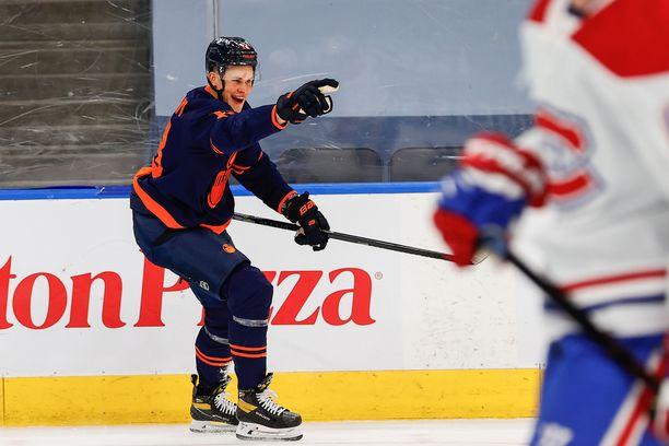 Jesse Puljujärvi iski maalin kauden avausottelussa.
