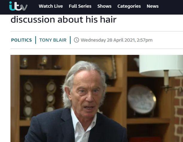 """Ex-pääministerin hiustyyliä epäillään """"lockdown-tukaksi""""."""