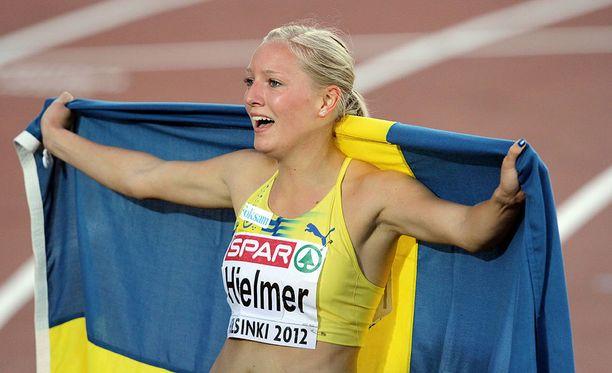 Moa Hjelmer voitti Helsingissä 400 metrin EM-kultaa vuonna 2012.