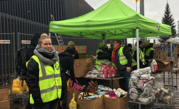 Rekku Rescuen hallituksen jäsen Millie Anttila kertoi, että tapahtumalla oli kysyntää kurjasta säästä huolimatta.