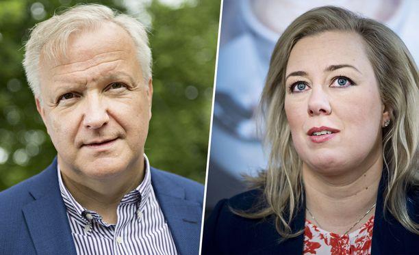 Presidenttispekulaatioissa pärjäävät nyt Olli Rehn (kesk) ja Jutta Urpilainen (sd).
