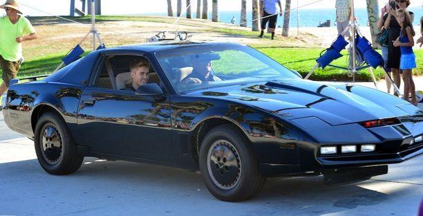 KITT Justin Bieberin musiikkivideon kuvauksissa vuonna 2014.