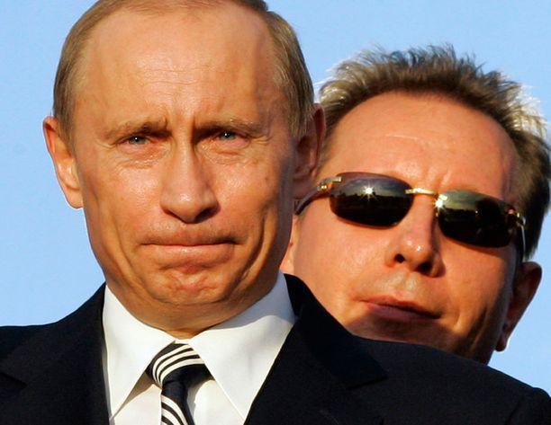 Putin ja hänen luottomiehensä Viktor Zolotov.