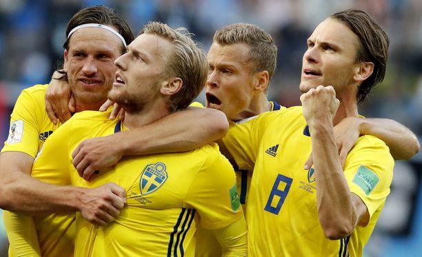 Ruotsi ei erotu tähtipelaajillaan, mutta järjestelmällinen pelitapa on vienyt sen pitkälle kesän MM-kisoissa.