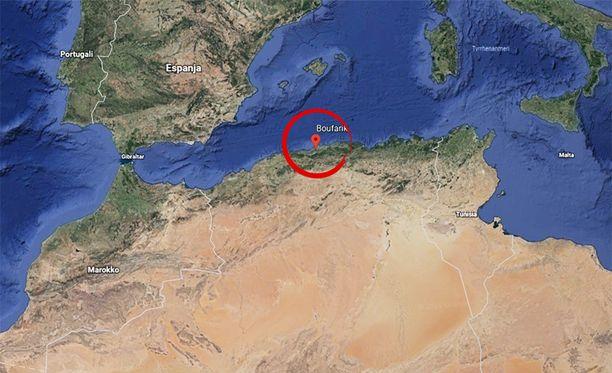 Sotilaskoneen putoaminen tapahtui Algerian Boufarikissa.