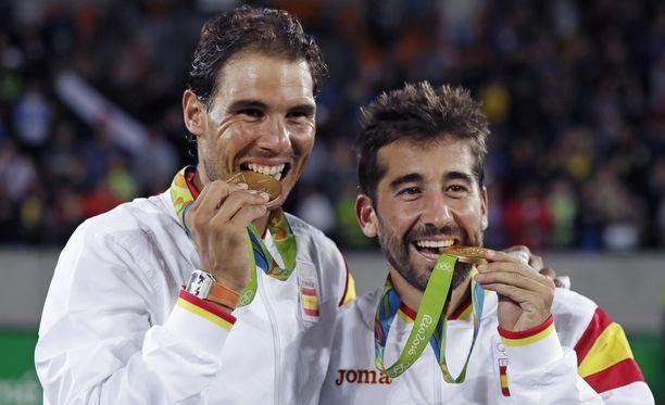 Rafael Nadal ja Marc Lopez saivat maistella kultaa Riossa.