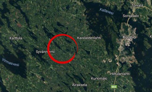 Onnettomuus tapahtui Karttulantiellä, lähellä Ilopurontien risteystä.