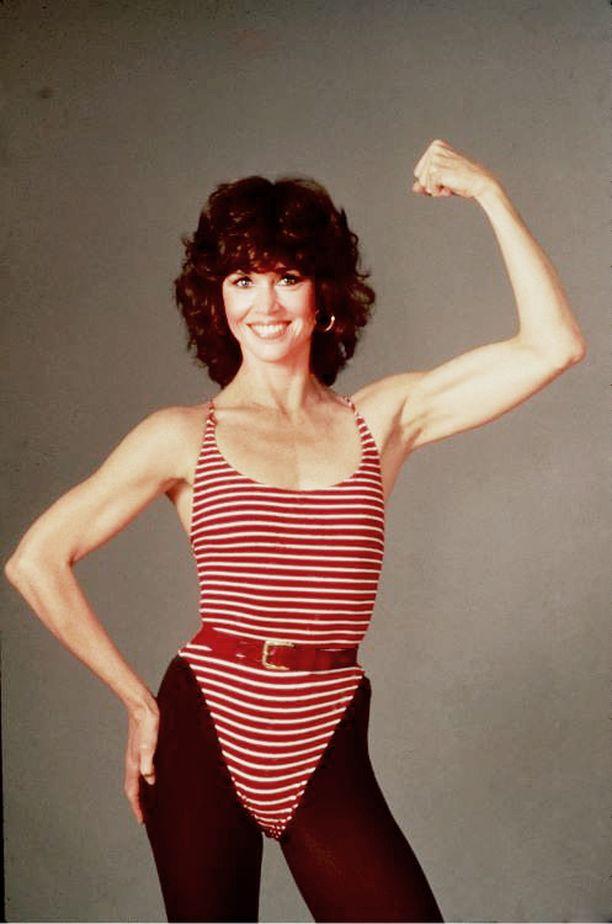 1980-luvulla Jane vaikutti aerobic-tähtenä, joka tehtaili omia jumppavideoita.