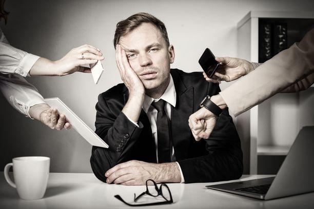 Työstressi voi johtaa uupumukseen, jonka seurauksena uupunut ei enää koe työstä iloa.