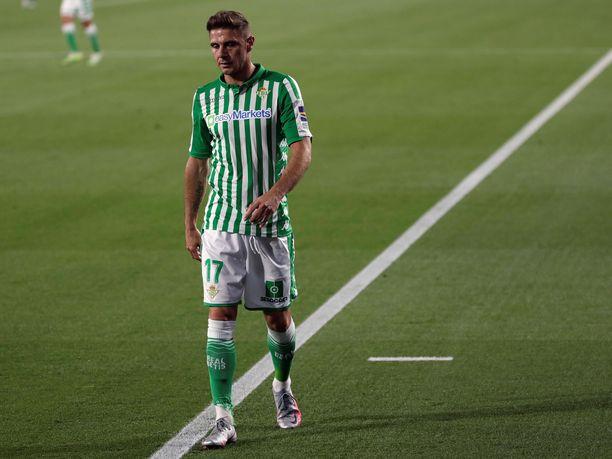 Joaquinin ja Real Betisin vire on ollut murheellinen. Joukkue on kolmesta ottelusta kaksi ja pelannut yhden tasurin koronapandemian aiheuttamalta tauolta palattuaan.