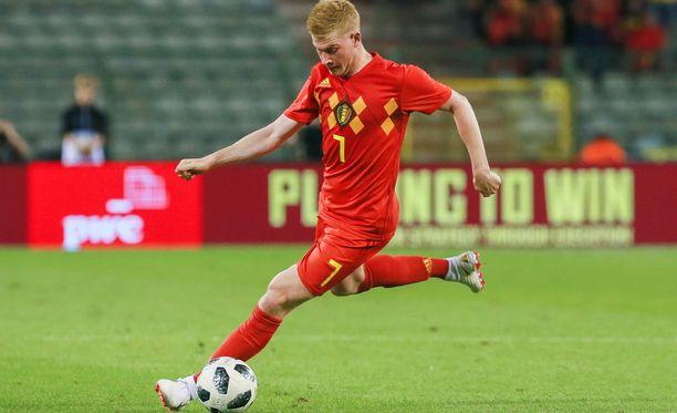 Kevin De Bruynen Belgia kohtaa tänään Costa Rican maaottelussa.