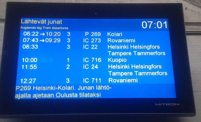 VR lupaa korvata liput Kolarin ja Rovaniemen yöjunien myöhästymisten takia