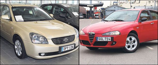 Kia Magentis (vas.) on yksi esimerkki markkinoiden kummajaisista. Joistain syystä pieni Alfa 147 ei niin ikään kelpaa ostajille.