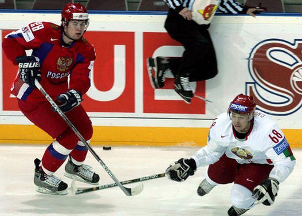 Näin siinä sittenkin kävi. Venäjä ja Denis Kuljash (vas.) jyräsivät Valko-Venäjän ja Jaroslav Chuprisin.