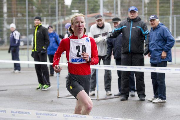 Annemari Kiekara juoksi Tukholmassa vauhdikkaan maratonin. Arkistokuva.