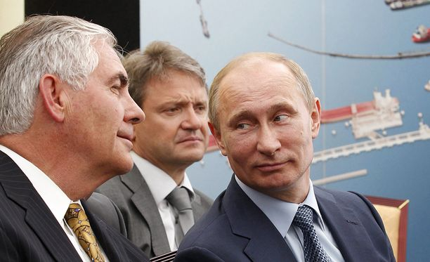 Tillersonilla on hyvät välit Venäjän presidentin Vladimir Putinin kanssa.