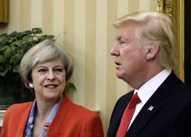 May ja Trump tapasivat Valkoisessa talossa jo tammikuun lopulla.