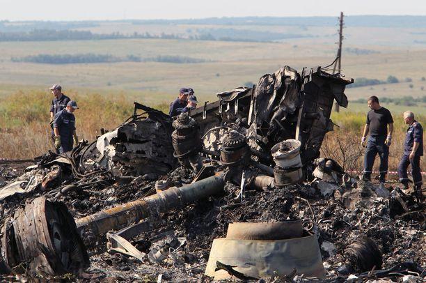 Heinäkuussa 2014 malesialaiskone ammuttiin alas Itä-Ukrainassa.