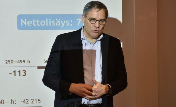 Mikael Pentikäisen mukaan työaikalain uudistamisen ulottaminen järjestäytymättömiin yrityksiin olisi yhdenvertaisuuskysymys.