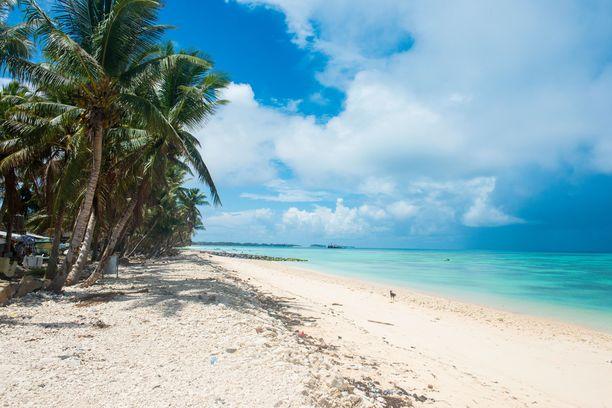 Kaunis Funafutin laguuni löytyy Tuvalulta.