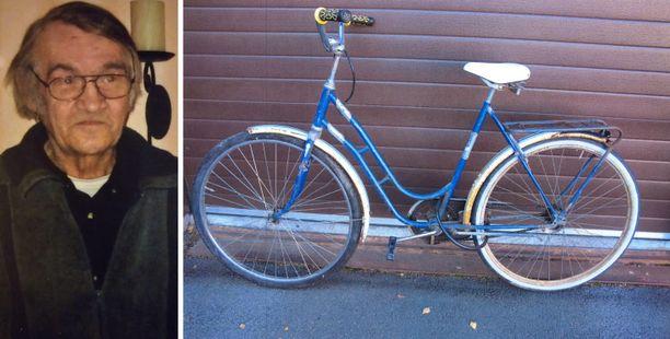 Pohjanmaan poliisi etsii 70-vuotiasta Jorma Hietasta ja hänen sinistä polkupyöräänsä.