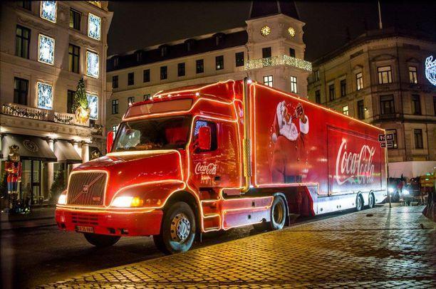 Coca-Colan joulurekka saapuu tänä vuonna Suomeenkin.