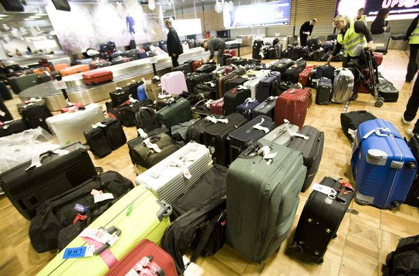Lentokentillä on jälleen alkamassa laukkuruuhka.