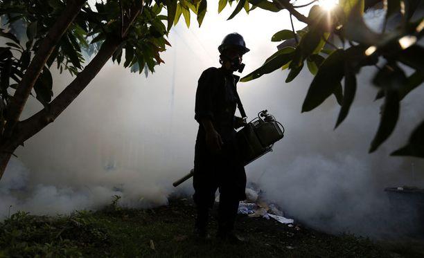Indonesiassa denguekuumetta ja zikavirusta levittäviä hyttysiä vastaan taistellaan tuholaistorjunta-aineiden avulla.
