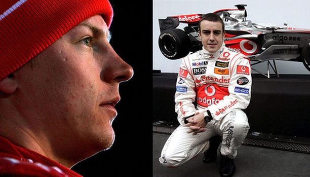 Fernando Alonso ja McLaren ovat Kimi Räikkösen ykkösviholliset.