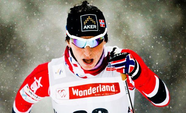 Marit Björgen voitti Ruka-triplan.