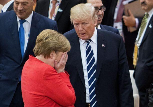 Trump ei ole Euroopan johtajien suosiossa. Kuvassa Saksan liittokansleri Angela Merkel, joka ei kuulu Trumpin suosikkeihin. Tunne vaikuttaisi olevan molemminpuolinen.