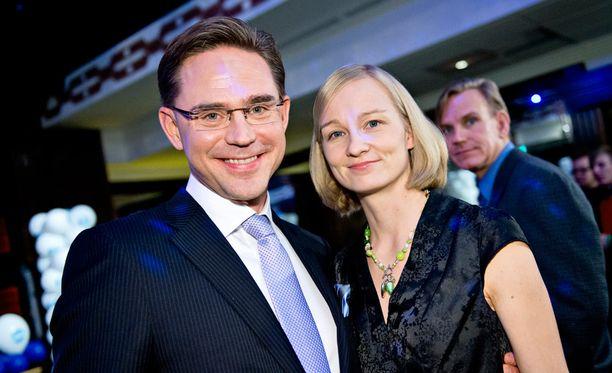 Jyrki ja Mervi Katainen vuonna 2012.