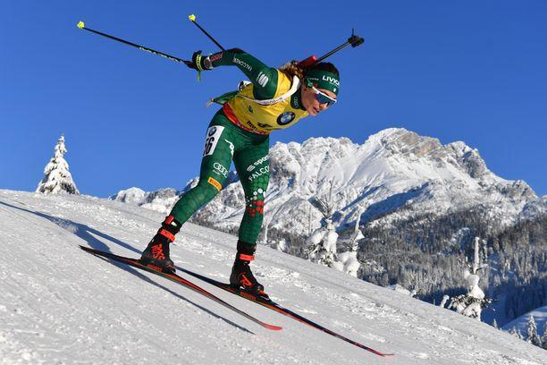 Dorothea Wiererin keho on aiempaa kireämmässä kunnossa. Se näkyy hiihtoradalla, sillä jalka liikkuu aiempaa kevyemmin.