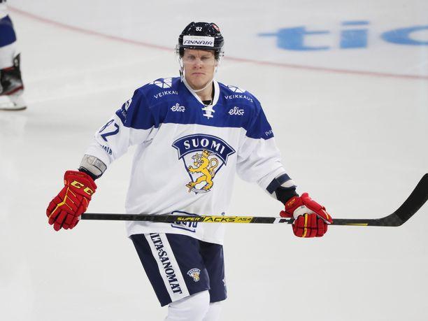 Harri Pesonen teki seitsemän (4+3) pistettä viime kevään MM-kisoissa.