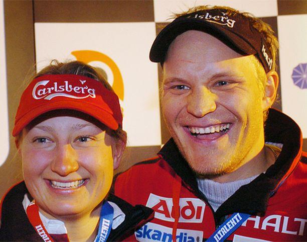 Tanja Poutiainen ja Kalle Palander ovat alppimaajoukkueen tähdet myös ensi kaudella.