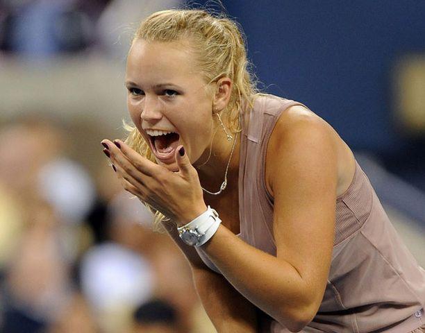 Caroline Wozniacki kerää katseita US Openissa.