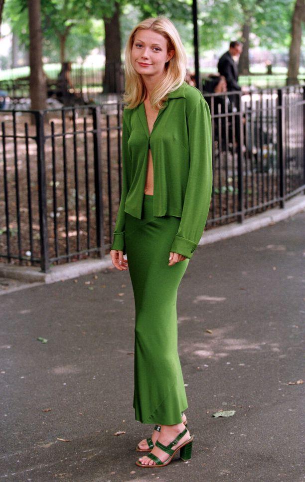 Gwyneth Paltrow Great Expectations -elokuvan kuvauksissa.