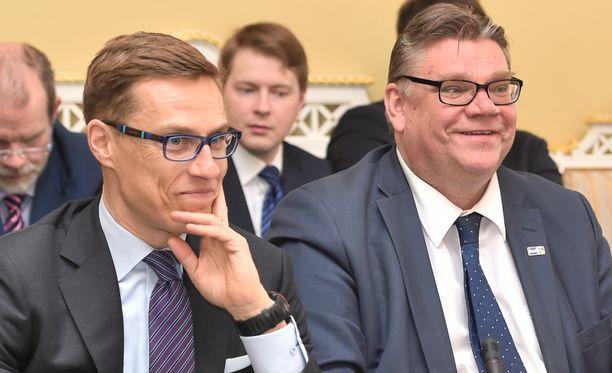 Stubb ja Soini hallitusneuvotteluissa toukokuussa.