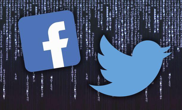 Facebook- ja Twitter-tunnusten kanssa kannattaa olla tarkkana.