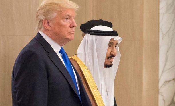 Trump on parhaillaan vierailulla Saudi-Arabiassa.